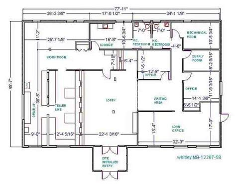 bank floor plan whitley manufacturing modular buildings prefabricated structures floor plans modular