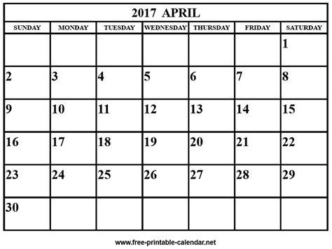 printable calendar april 2017 april 2017 calendar