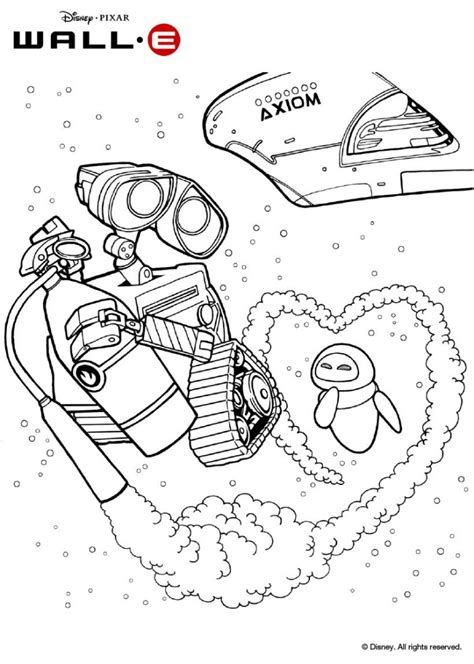 Wall E Coloring Pages by Wall E And In Space Coloring Pages Hellokids