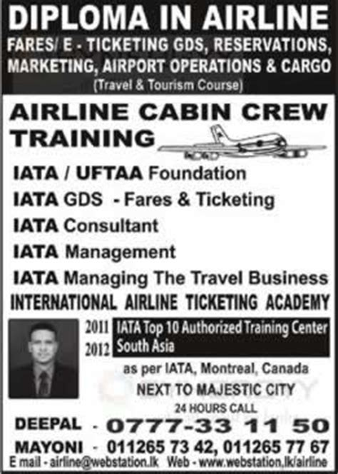 cabin crew diploma diploma in airline and airline cabin crew