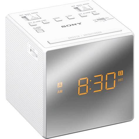 Alarm X One sony dual alarm clock radio white icfc1twhite b h photo