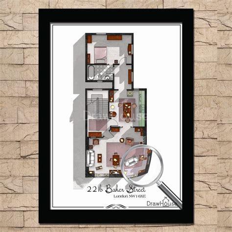 221b baker street floor plan sherlock holmes 221b baker street london floor plan sherlock bbc poster sherlock print