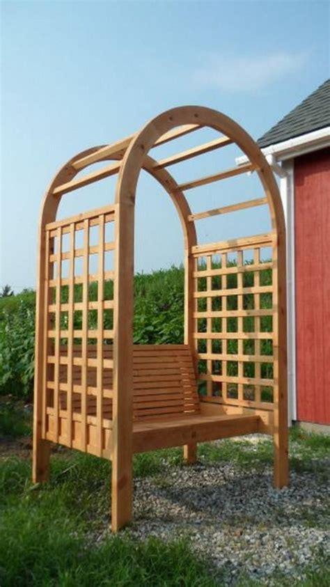 build  arbor bench   garden diy projects