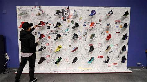 Sneaker Wall Decor by Las Vegas Sneaker Wall Worth 50 000