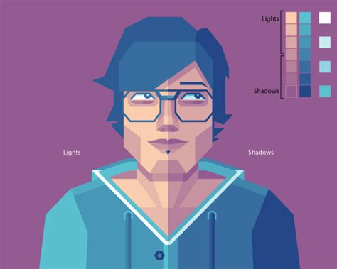 illustrator nose tutorial how to create a self portrait in a geometric style