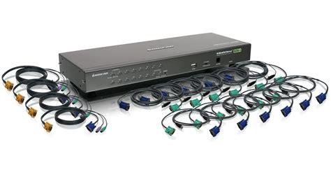 kvm switch 6 iogear gcs1716kit 16 usb ps 2 combo kvm switch