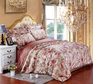 King Size Bedroom Quilt Sets Cotton Floral Flower Luxury Bedding Sets King