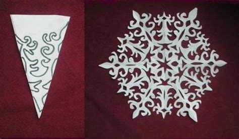 How To Make Pretty Paper Snowflakes - how to make paper snowflake flowers free template