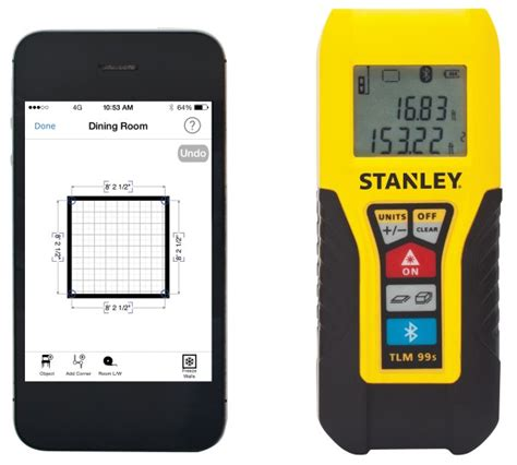 Stanley Floor Plan For Windows stanley tlm99 laser measure with bluetooth connectivity