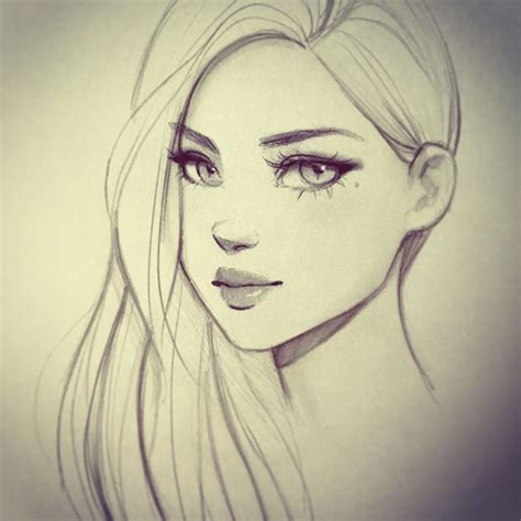 pretty girl face drawing best 25 female drawing ideas on pinterest cartoon