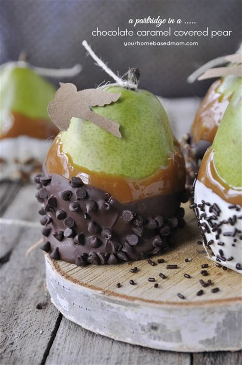 12 best images about pear partridge in a chocolate caramel covered pear
