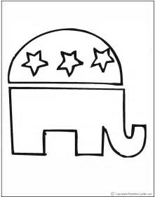 democratic symbol and color election day coloring pages