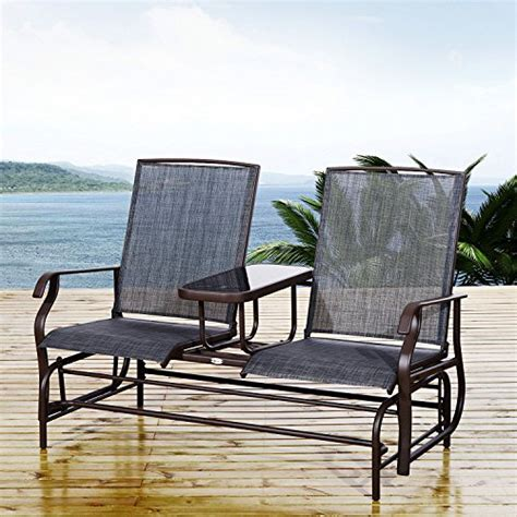 Outsunny 2 Person Outdoor Mesh Fabric Patio Double Glider Mesh Fabric For Patio Chairs