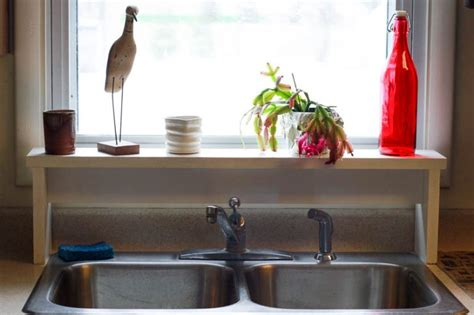 tall shelf over kitchen sink pictures to pin on pinterest