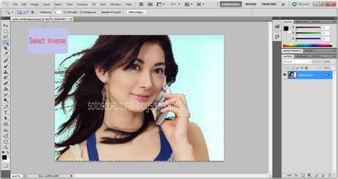 tutorial untuk photoshop cs5 cara seleksi rambut dengan adobe photoshop cs5 sotosop