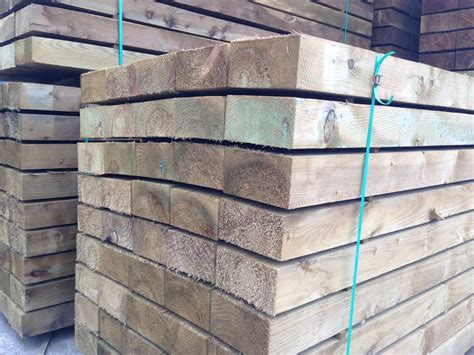 Tanalised Railway Sleepers by New Tanalised Softwood Railway Sleepers
