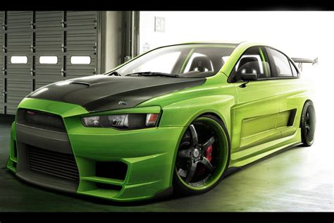 mitsubishi green mitsubishi x evo green by kipituning on deviantart