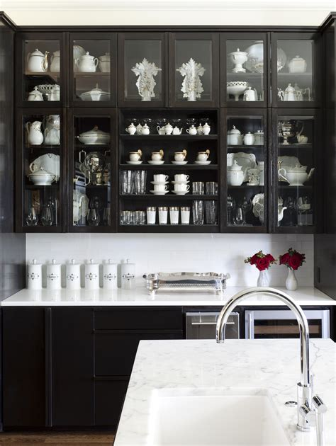 Black Cabinets With Glass Doors Bye Bye White Hello Kitchen Cabinets Cococozy