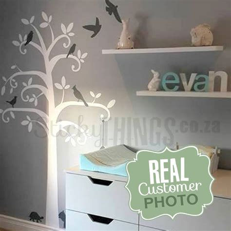 wall stickers south africa baby nursery tree wall sticker can add shelves