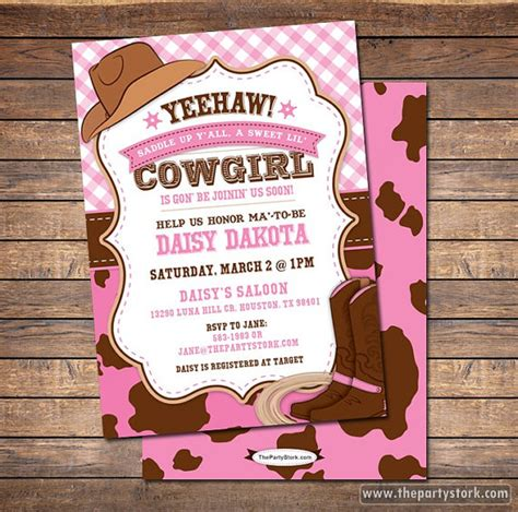 cowgirl baby shower invitation cowgirl baby shower