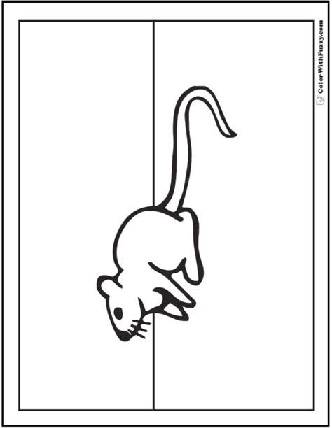 pack rat coloring page mouse coloring pages to print and customize for kids