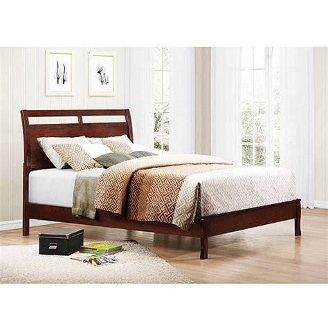 newcastle bed brown warm cherry abigail queen platform bed warm brown cherry walmart com