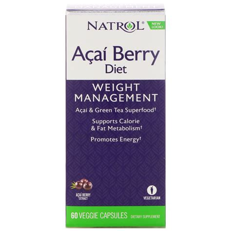 Natrol Acaiberry Diet Acai And Green Tea Foods Murah natrol acaiberry diet acai green tea superfoods 60 veggie capsules iherb