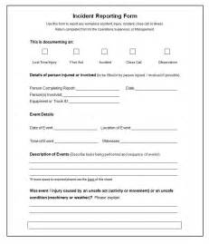 Incident Report Exle Pdf Incident Report Template Word Anuvrat Info