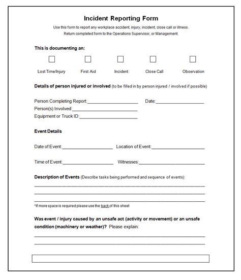 aid report form template rachael edwards