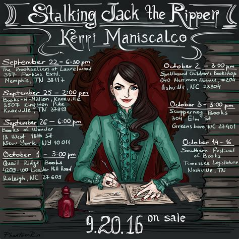 stalking jack the ripper 0316273511 pre pub stalking jack the ripper updates kerri maniscalco