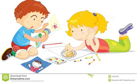Kids Drawing Clipart Of Children Clipart Collection Five Cute Little Children Drawing Children Drawing Pictures For Painting