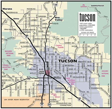 printable zip code map of tucson az detailed map of tucson arizona public domain map