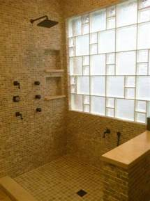 glass blocks bathroom walls glass block walls for bright and modern bathroom design