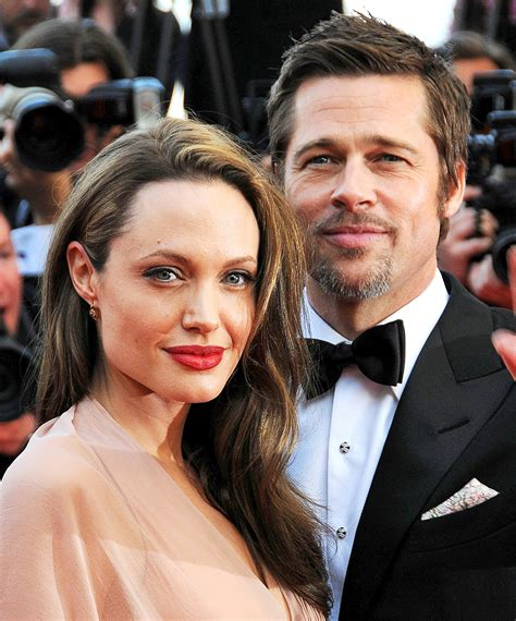 brad pitt angelina jolie at the tree of life premiere in la 86065 angelina jolie blocked brad pitt s phone number text messages