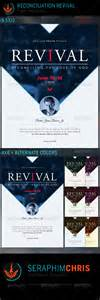 reconciliation revival church flyer template by