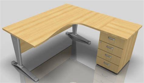Right Hand Corner Desk With Drawers Vito 1600mm Right Corner Desk