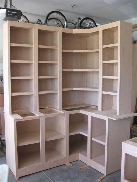 Build A Corner Bookcase Corner Cabinets W Bookcases Build Corner Bookcase