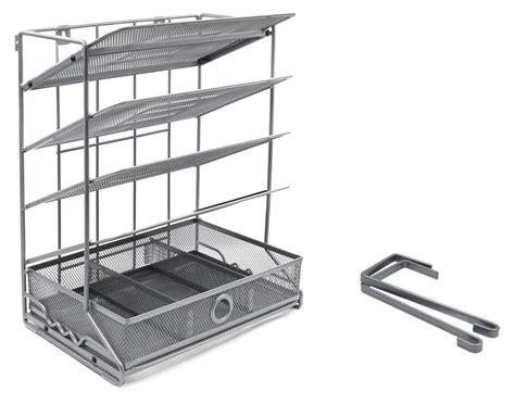 Top Hanging Drawer Slides 5 Tier Assembly Desk Trays Desktop Wall Mount Hanging