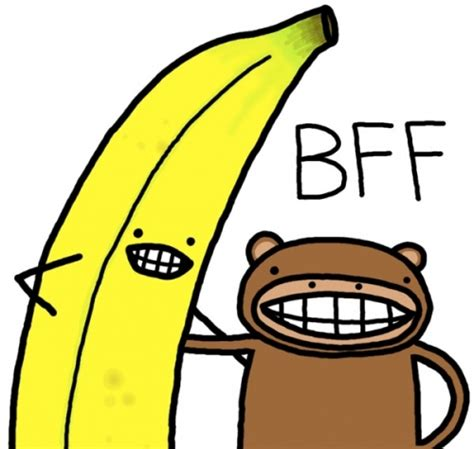 animals anthromorphosism banana bananas best friends