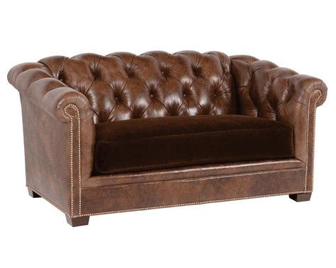 loveseat tufted tufted leather loveseat montclair 1382 classic leather