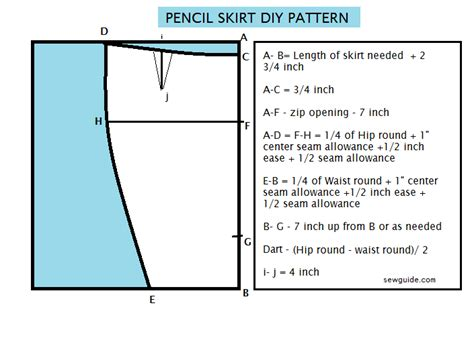 pattern allowances meaning draft an easy pencil skirt diy pattern sew guide