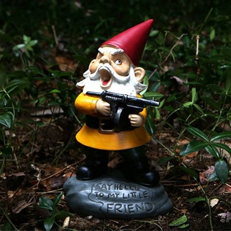 garden gnomes with guns angry garden gnome with gun gadget inspector