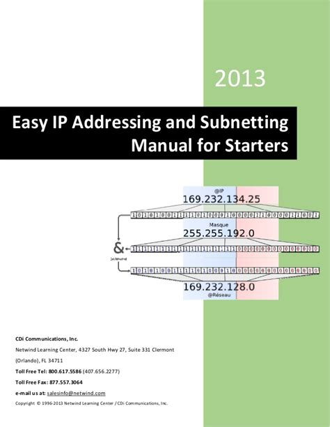 network tutorial ip subnetting tips and tricks easy ip addressing and subnetting manual for starters