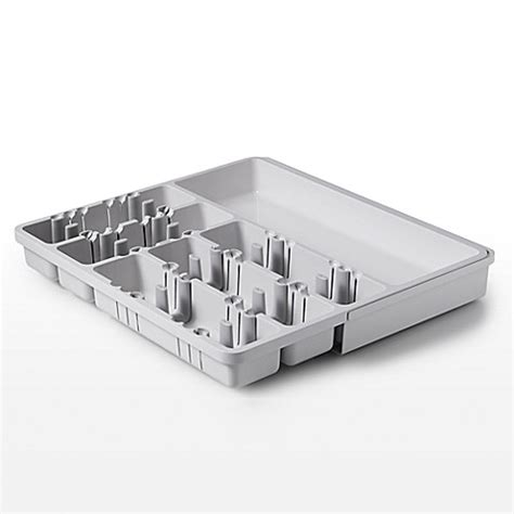 oxo expandable drawer organizer buy oxo good grips 174 expandable utensil organizer in grey