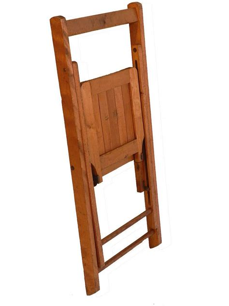 Wooden Folding Chairs For Sale by Early Wood Slat Folding Chairs Set Of 4 For Sale At 1stdibs