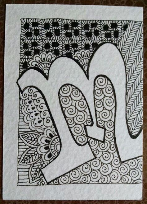 doodle name m 17 best images about zentangle 174 letters and words on