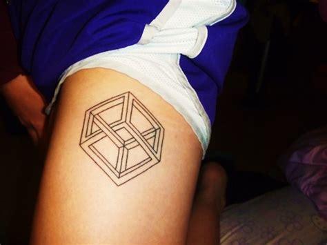 inception tattoo inception cube optical illusions math fail