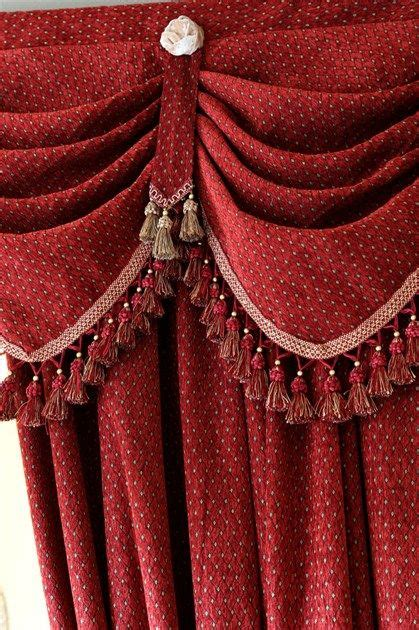 red swag curtains austrian diamond swags and valances curtains red