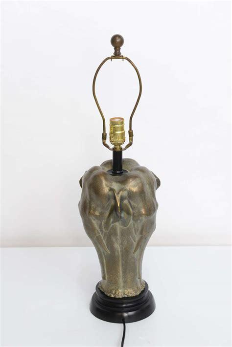 chapman sculptural bronze elephant table lamp  stdibs