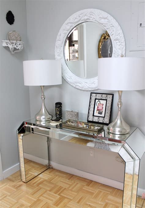 Hallway Table With Mirror How To Get The Look Glamorously Decorated Home Entrances